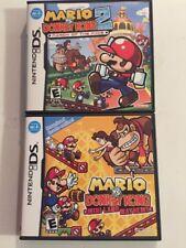 Mario Vs Donkey Kong  1 & 2 (Nintendo DS)Lot Complete Excellent Shape