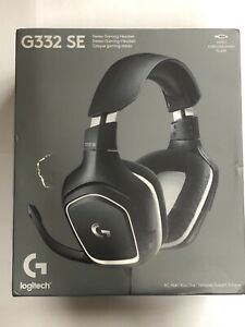 Logitech G332 SE Wired Stereo Gaming Headset - Black and White