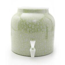 Goldwell Designs® Green Marble Porcelain Water Dispenser Crock (DM251)