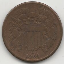 1864 U.S.A. Large Motto 2 Cents | World Coins | Pennies2Pounds