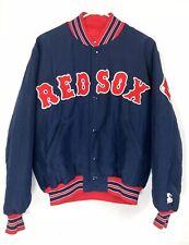 Vintage Boston Red Sox Medium Starter Jacket Nylon Bomber Diamond Collection