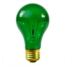 3 SYLVANIA TRANSPARENT 38 WATT A19 GREEN LIGHT BULBS