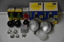 set of 2x Philips Studio 500W & 3 darkroom equipment bulb & 5 enlarger 12V lamp