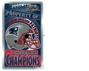 WOW TOM BRADY 7X CHAMPION MINT 2005 NEW ENGLAND PATRIOTS Super Bowl Locker SIGN