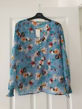 Brand New With Tag Blue Floral Blouse/top - Size 18