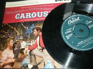 "Carousel Shirley Jones Gordon Macrae 7"" EP Vinyl Single Capitol SEP3-694 Stereo"
