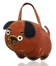 Unsual Wow Small Brown Pug Dog Tote Bag with Outside Pocket