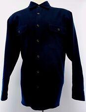 LEVIS Shirt JACKET Mens XL Blue NAVY Cotton LINED Size SZ Men DARK Collar WINTER