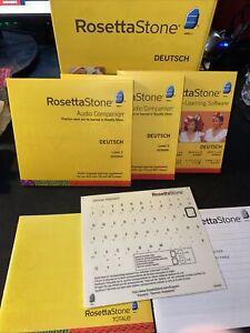 Rosetta Stone Deutsch Level 1 and 2 - Used No Mic