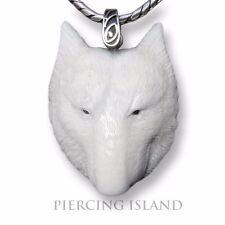 Bär Bärenkopf Amulett Kettenanhänger Anhänger Bone Knochen Silber PB133
