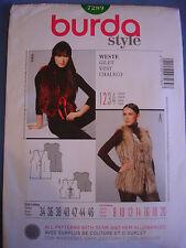 Burda Style 7289 sewing pattern Gilet sizes european 34 - 46