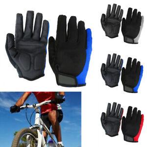Gel Pad Bicycle Gloves Glove Men Outdoor Shockproof Sports Full finger