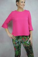 Joseph Ribkoff Fushia 3/4 Bell Sleeve Textured Top US 8 UK 10 NEW 181488