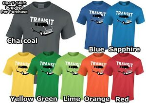 Lumipix Ford Transit MK1 Mens VanT-Shirt Great Gift!