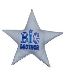 Personalised Embroidered Big Brother Cushion - customise colours/add name