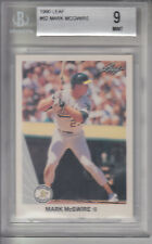 1990 Leaf Card #62 Mark McGwire ATHLETICS Z16442 - BVG Mint (9)