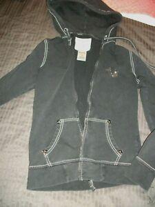 True Religion S hooded zip up sweater
