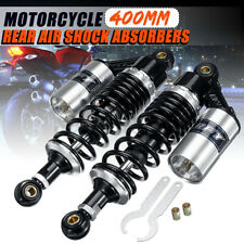 2X 15.74'' 400mm Motorcycle Rear Air Shock Absorbers Suspension ATV Dirt Bike US