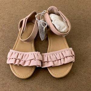 Old Navy Girls Shoe Size 11 In The Pink Ruffle-Strap Sandals NWT