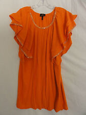 Faith batwing sleeveless orange top size XS