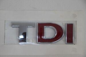 VW Golf IV, Touran Scritta Tdi Rosso Nuovo, Originale Stemma, Logo 3B0 853 675 L
