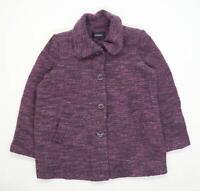 Papaya Womens Size 18 Spotted Purple Coat