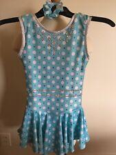 Child/Girls Size Medium (8-10) Polka Dot Figure Skating Dress