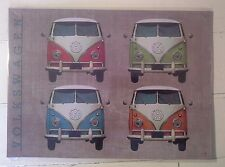 VW Quad Camper Van Metal Wall Sign- Iconic Classic Retro Vintage Style-Cool Gift