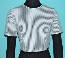 NEW Forever 21 Cute Crop Top Belly Shirt - Black & White Stripes - MSRP $17.90