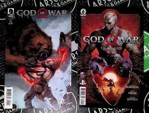 God of War #1 2018 & Fallen God #1 2021 Dark Horse Comics Low Print PlayStation