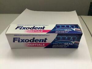 Fixodent Partials 0% Premium Denture Adhesive Microseal, 40g 03/2023