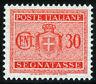REGNO D'ITALIA - SEGNATASSE - STEMMA SABAUDO CON FASCI - Cent. 30 Arancio - 1934