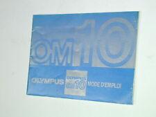 OLYMPUS notice OM-10 mode d'emploi en français photo photographie