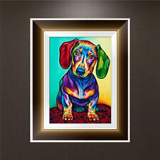 DIY 5D Diamond Embroidery Painting Colorful Dog Cross Stitch Craft Home Decor