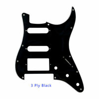 For  Strat Floyd Rose Tremolo PAF Humbucker Guitar pickguard HSS 3Ply Black