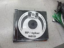 HP 8481A Power Sensors Operating & Service Manual CD 08481-90173 7802C