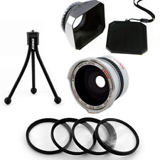 30mm Wide Fish Eye Lens, Macro Filter Kit,Hood for Sony Handycam SX43,SX44,USA