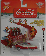 "Johnny Lightning -'55/1955 FORD Crown Victoria ""COCA-COLA/X-MAS"" Nuovo/Scatola Originale"