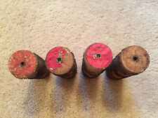 Lot of 4 Antique Roller Organ Cylinder Cobs - #36, #39, #62, #?