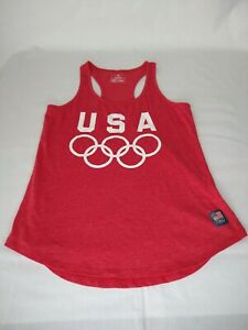 Usa Team Apparel Olympics Tank Top Womens Size S Official Gear Bright Red