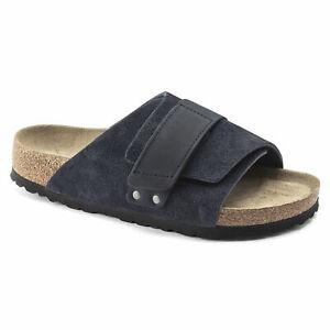 Birkenstock Kyoto Soft Footbed Nubuck/Suede Leather, Midnight
