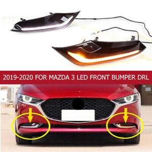 For Mazda 3 2019-2020 LED Front bumper DRL Daytime Running Light/Turn fog light