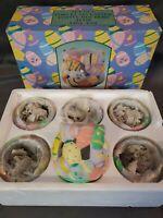 Porcelain Easter Votive Candle Holders 41338 VPO-EST Set Of 6