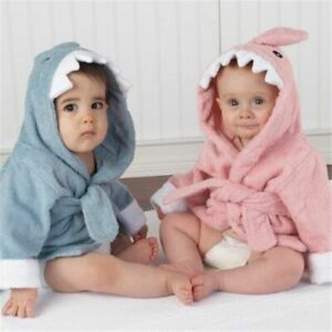 Unisex Newborn Bath Towel Hooded Cartoon Animal Bathrobe Kids Soft Robe Supplies