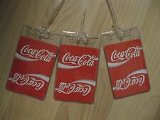 Coca Cola Luggage Tags - Coke Soda Pop Repurposed Playing Cards Name Tag Set (3)