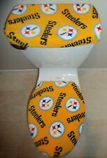 NFL PITTSBURGH STEELERS Yellow Fabric Toilet Seat Cover Set Bathroom Accessories