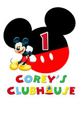 Mickey Mouse Clubhouse Birthday Iron On Transfer Tshirt Design Print your Own