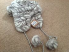 synthetic fur furry trapper hat - ladies - bnwt