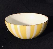 New ListingNorway Cathrineholm Yellow Stripe Bowl Enamel 4 Inch As Is Mid Century Modern