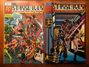 Starslayer 2-3 Pacific Comics 1982 1st & 2nd Dave Stevens' The Rocketeer